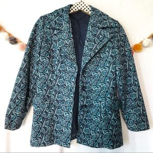 Beautiful Vintage Style Floral Pattern Jacket
